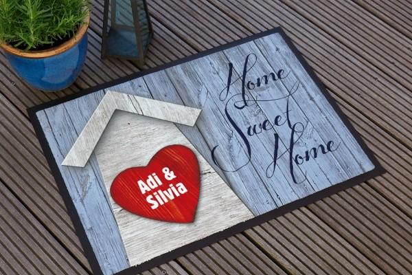 Sweeet Home Fußmatte mit Herz