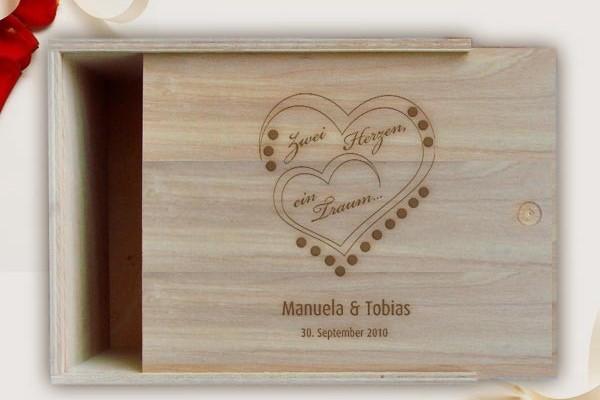 Geschenkverpackung zur Hochzeit